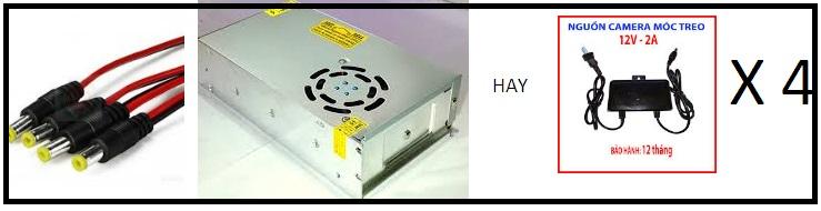 Trọn gói 4 camera thân USA HIKVISION CHỈ 3.800.000 ,gồm ổ cứng 250g , gồm công , gồm 100m cable FREE