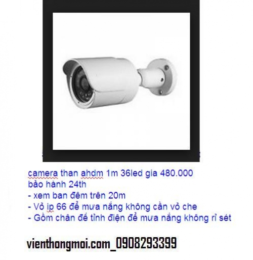 Camera than ahdm 1.0m 36led gia 470.000