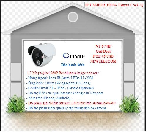 Camera NT-674IP Out-Door         POE +5 USD...