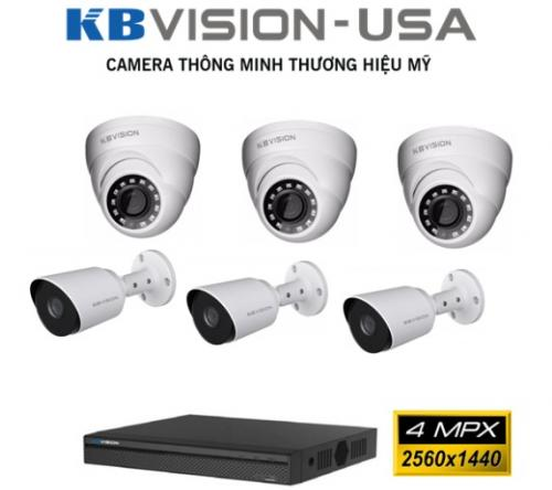 BỘ 6 CAMERA KBVISION 4.0 MPX