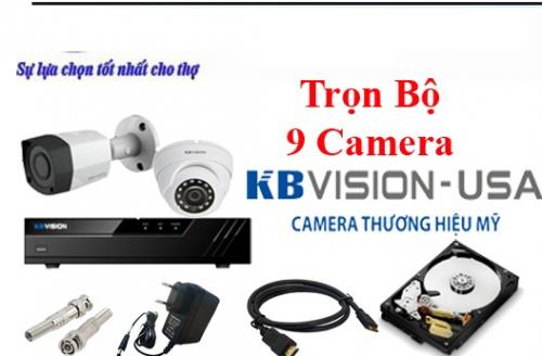 BỘ 9 CAMERA KBVISION 2.0Mp