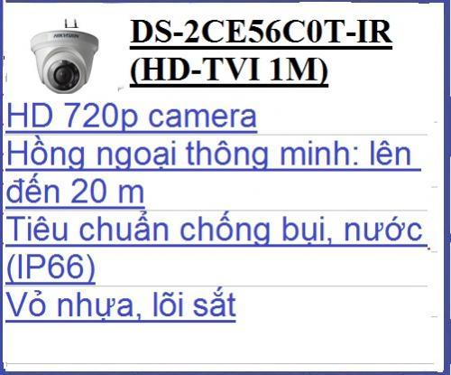 Camera Hikvision DS-2CE56C0T-IR (HD-TVI...