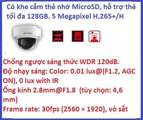Hikvision_DS-2CD2155FWD-IS (5 M / H265+)...