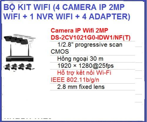 Hikvision_Camera ip_WIFI_ KIT (NK42W0) bộ...